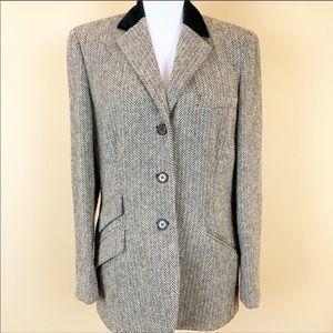 Ralph Lauren herringbone equestrian tweed blazer